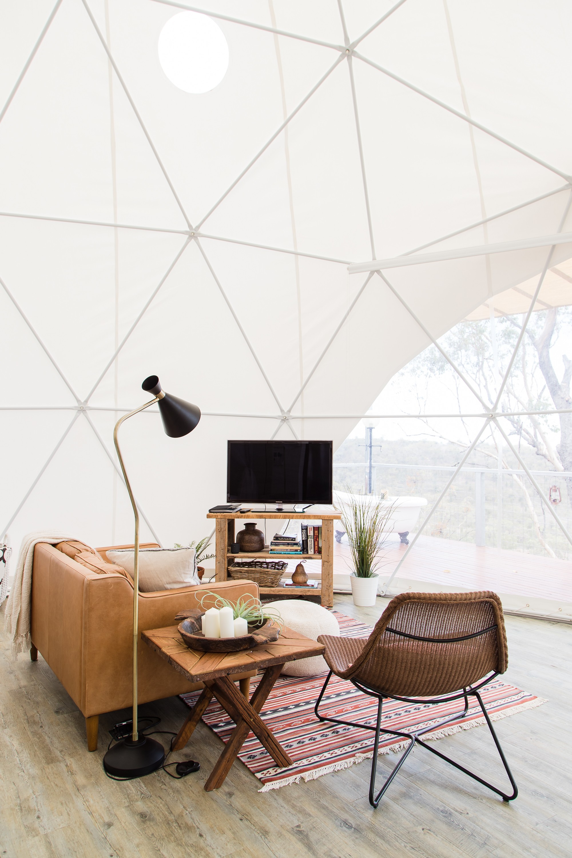 This geodesic dome is a luxurious off-grid Australian outback oasis