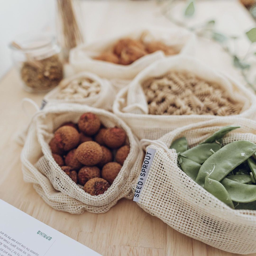 Seed and Sprout plastic free produce bags