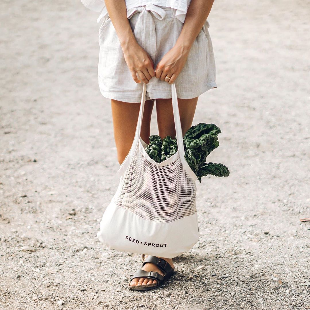 Seed and Sprout plastic free shopping tote