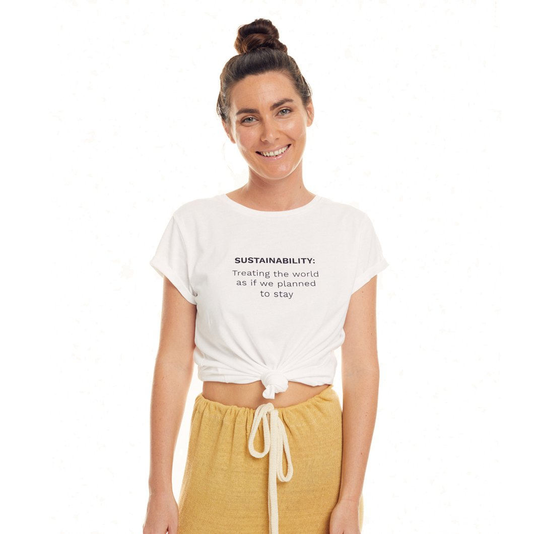 Seed and Sprout plastic free sustainability tee