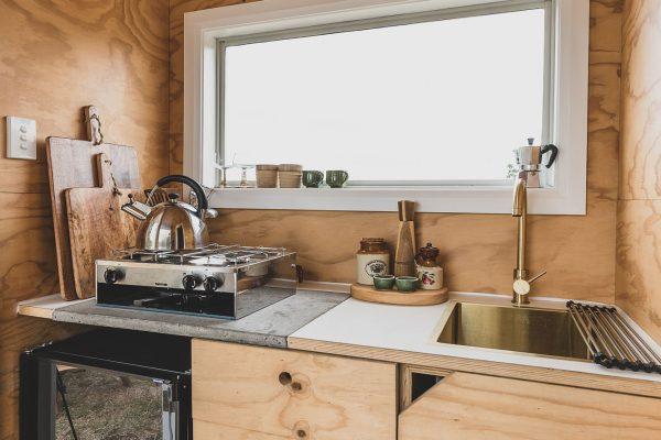 Kitchen at The Camp, Yelgun, Byron Bay