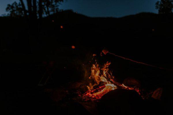 Aframe Kangaroo Valley firepit