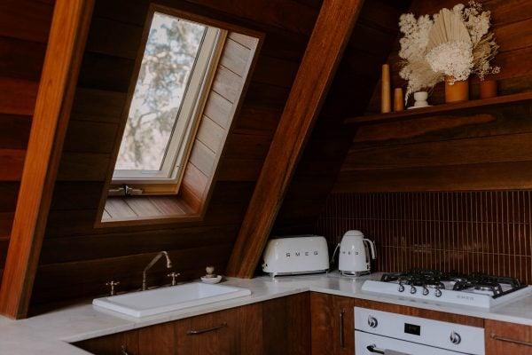 Aframe Kangaroo Valley kitchen