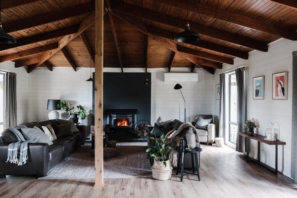 The Ridge House fireplace